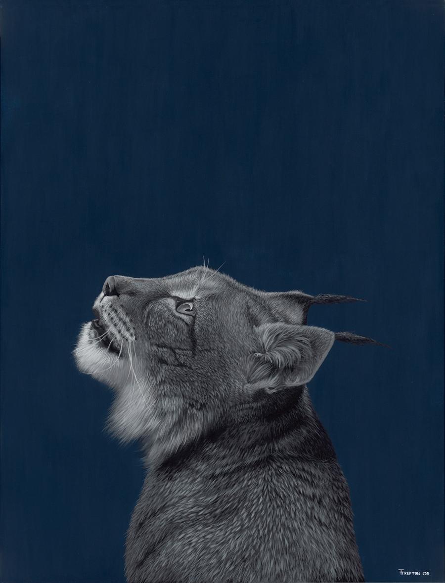 Wild Cat       2014    Acrylic on Canvas  116cm x 89cm x 2cm