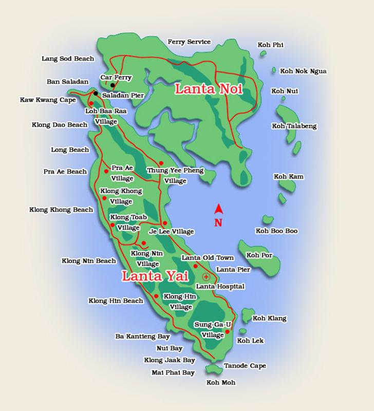 Karta över Koh Lanta