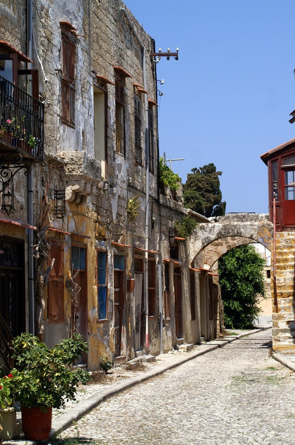 Gamla delen av Rhodos stad