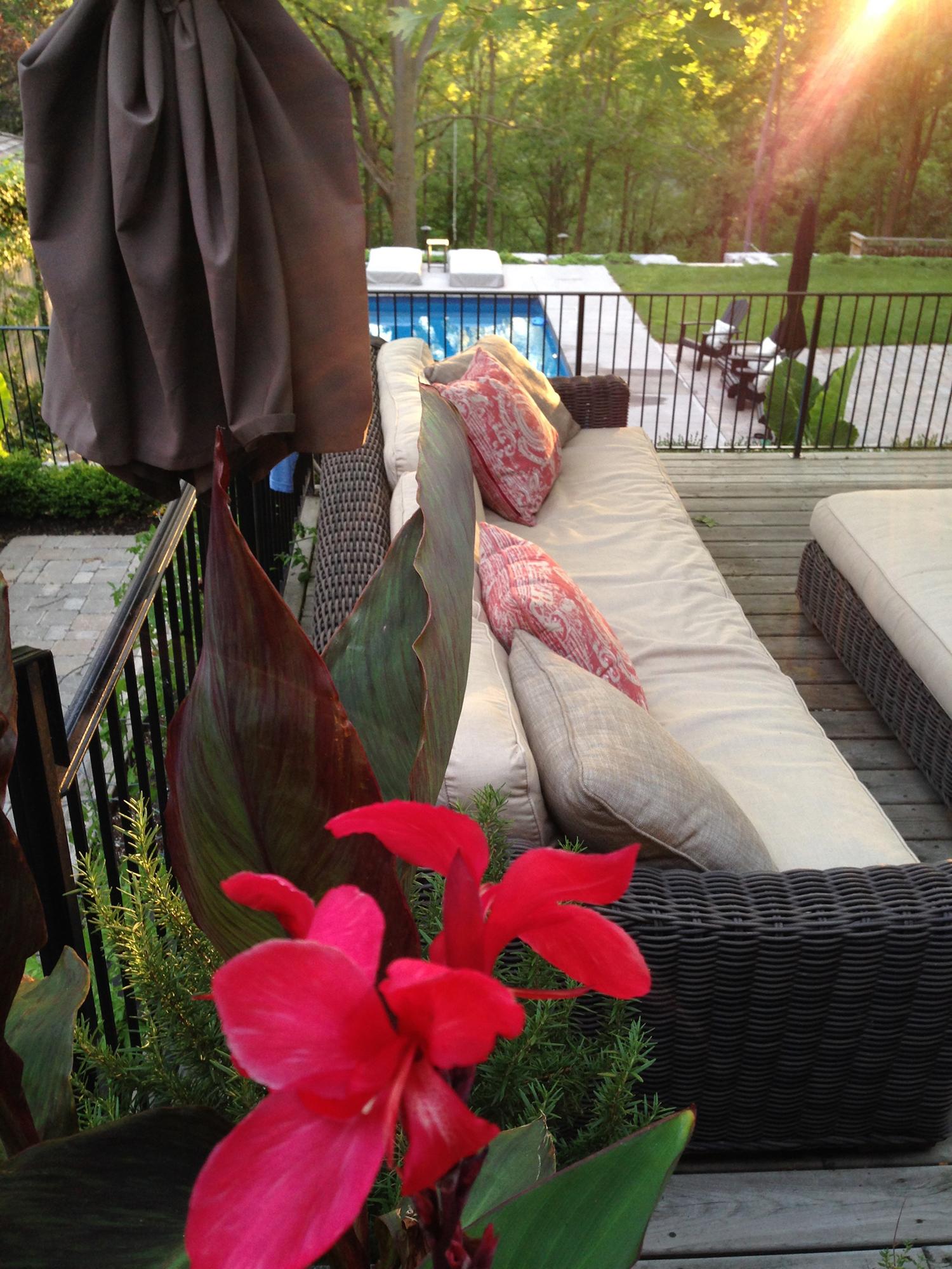 Rebecca Montemurro's Back Deck