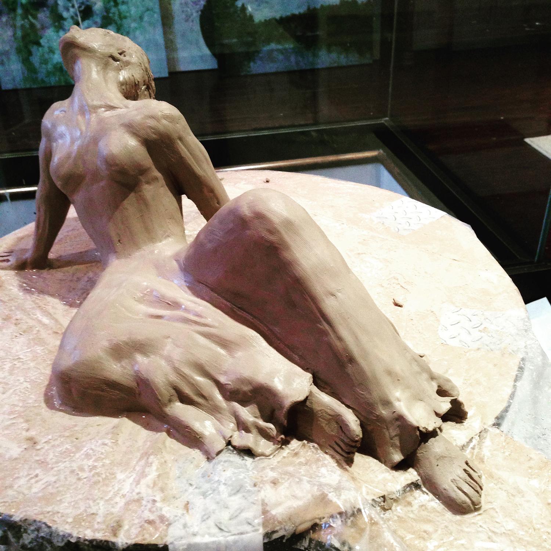 """Spent"". Clay Sculpture. www.rebeccamontemurro.com"