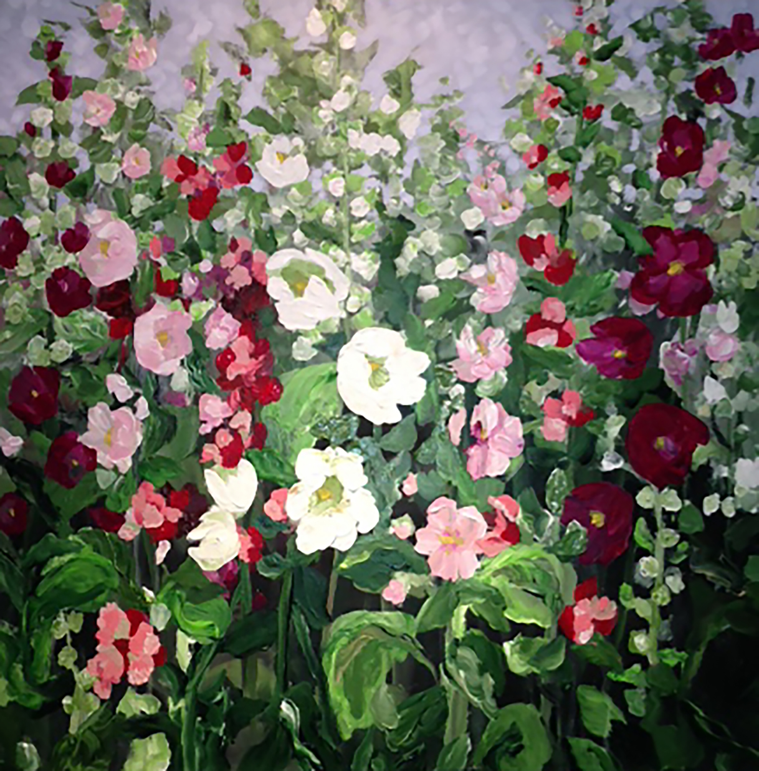 Hollyhock Golightly (36 x 36)