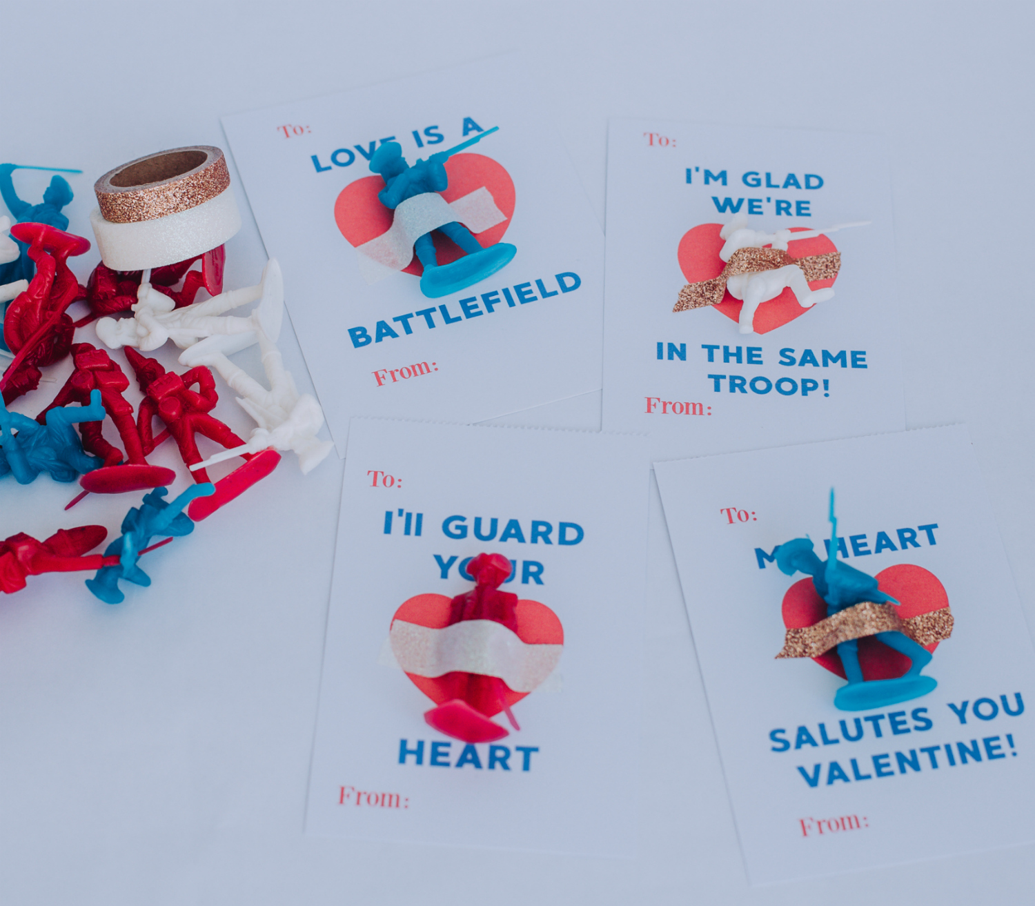 Free Printable Kids Valentines With American Revolution Toy Soldiers Brooke Austin Photo