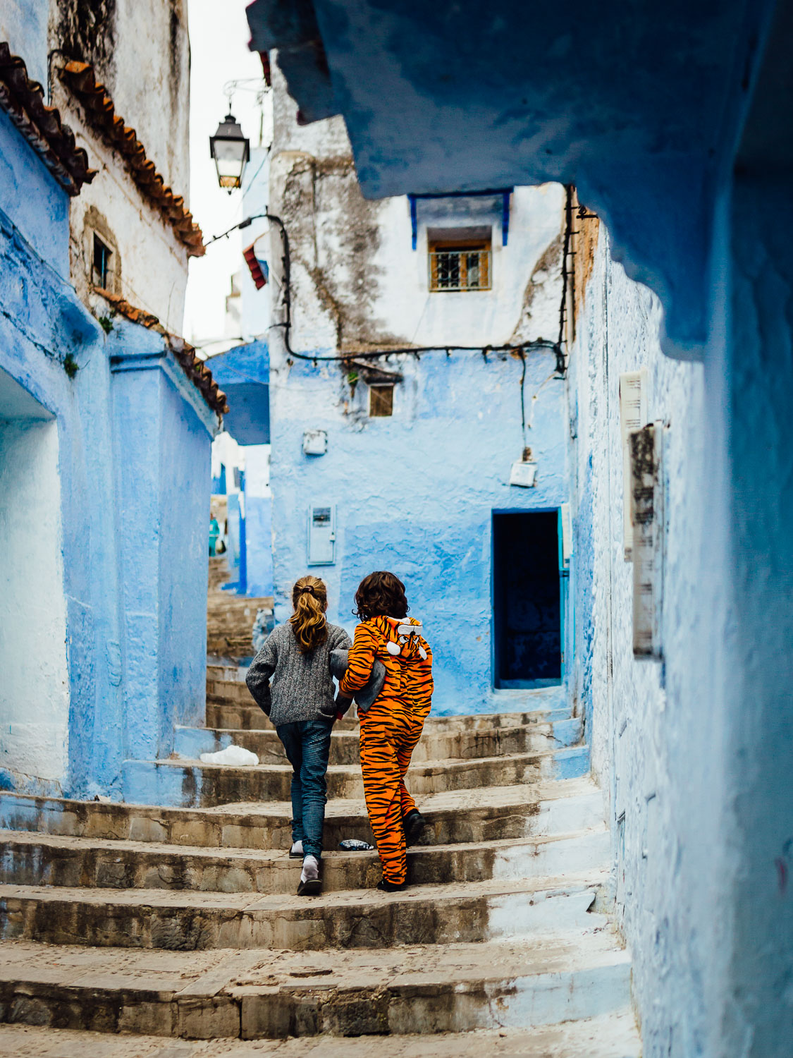 Blue-Children-Playful-Tiger-City-Tradition-Morocco-Durazo-Photography