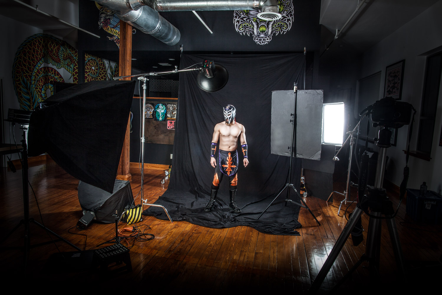 On location photography | Luchadore