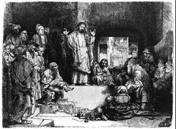 Rembrandt van Rijn  Christ Preaching - La Petite Tomb  Private Collection
