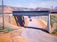 LeConte Stewart  Railroad Bridge, Riverdale  Private Collection
