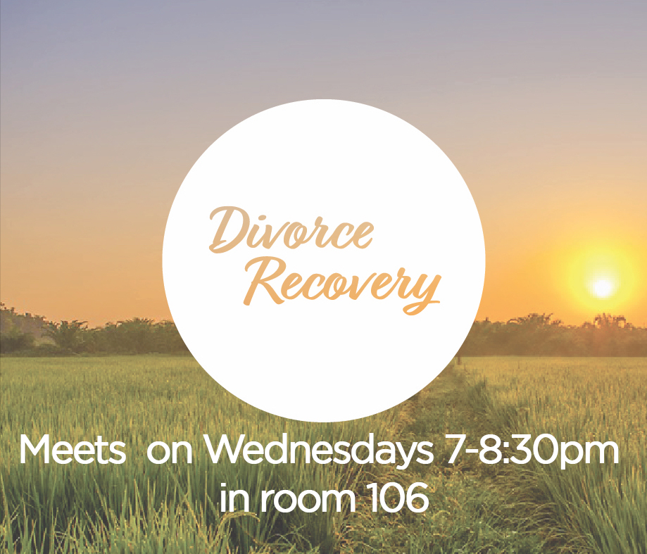 Have you or a loved one gone through a divorce? Join us on Wednesdays at 7 pm.