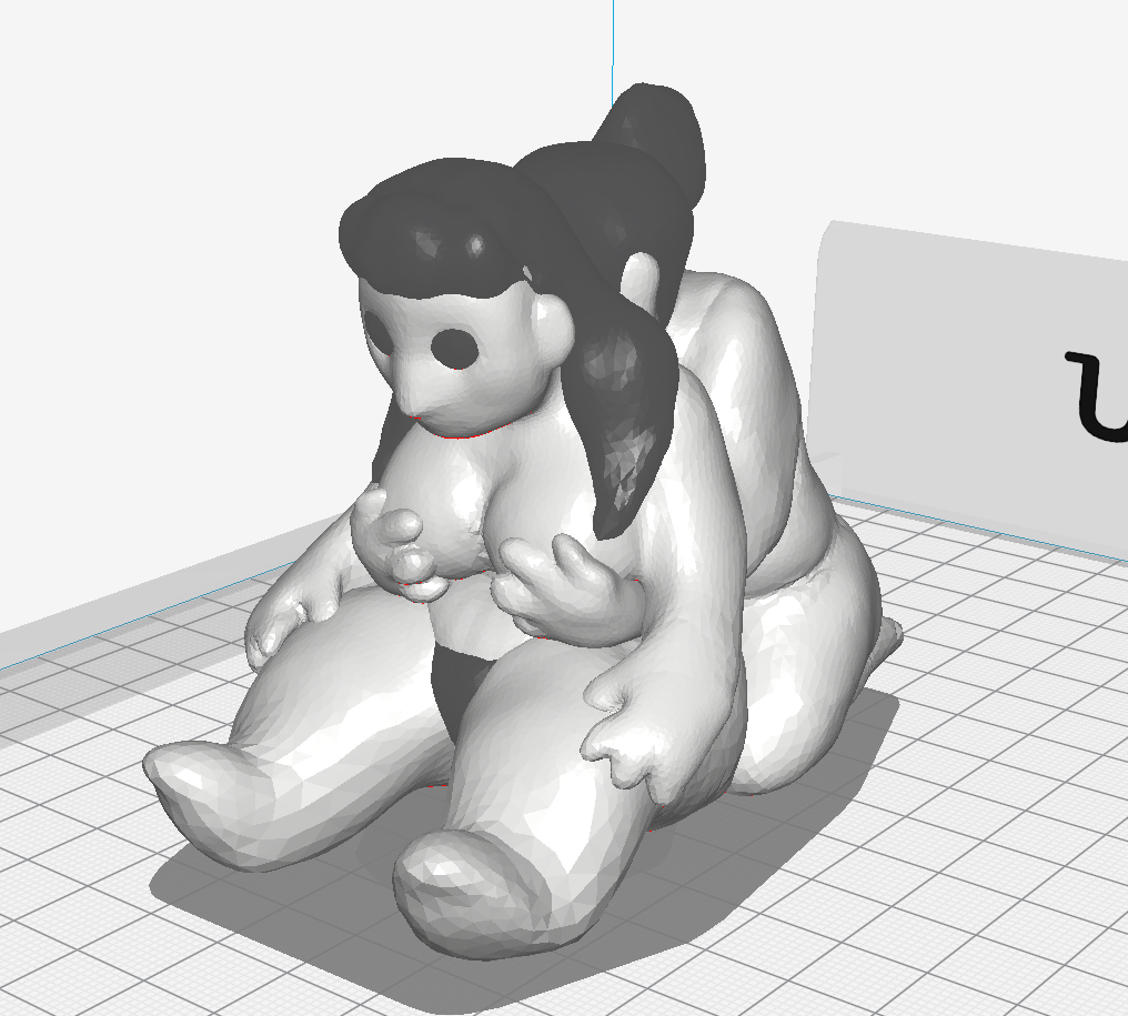 Figure study created in Tinkercad, printed on Ultimaker 3.