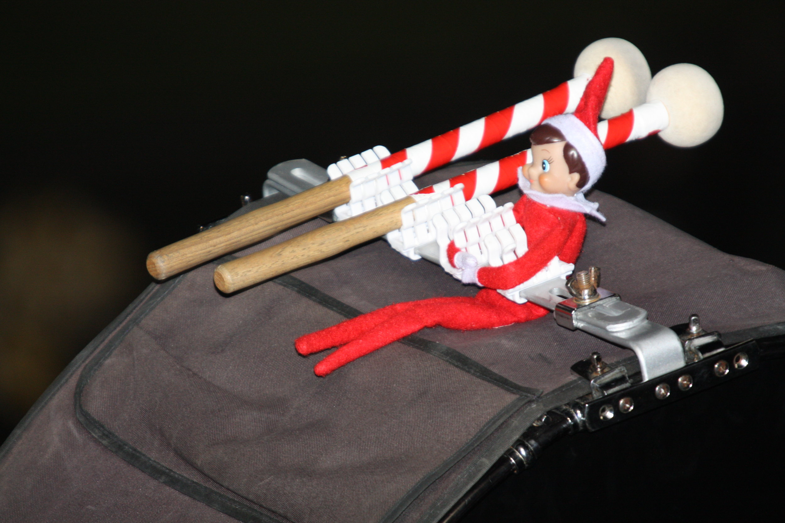 Bob The Elf and Cody's drum sticks