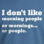 I don't like morning people funny and offensive t-shirts
