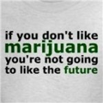 marijuana is really the future political message t-shirt