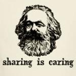 Karl Marx: Sharing is Caring funny childhood shirts