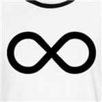 Infinity Symbol t-shirt for geeks and nerds