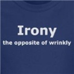 Irony the opposite of wrinkly cute and funny gift ideas