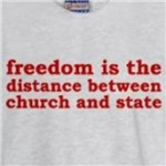 freedom is the distance between church and state