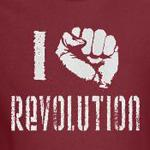 I love revolution fist progressive politics shirts