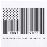 don't vote everything is fine the way it is radical political t-shirt