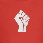 power revolution fist activist and progressive t-shirts