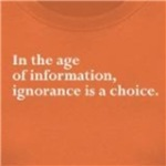 ignorance is a choice with information radical t-shirts