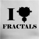I love fractals gifts and shirts for math geeks and nerds