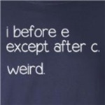 weird spelling rule funny grammar geek t-shirts and gifts