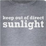 keep out of direct sunlight funny nerd humor shirts