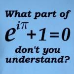 Euler's Equation funny math geek joke t-shirts and gifts