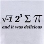 I ate some pi and it was delicious funny math geek humor