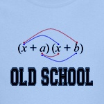 old school foil math geek humor for nerds on t-shirts