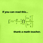 If you can read this thank a math teacher geeky gifts and shirts