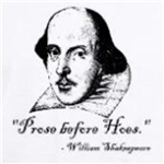 Prose before Hoes Shakespeare quote funny geek t-shirt