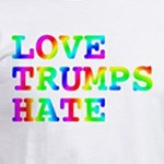 Love Trumps Hate liberal and progressive t-shirts and gifts