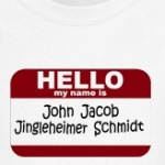 Hello My Name is John Jacob funny and cute kids t-shirts