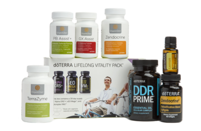 CLEANSE AND RESTORE ENROLLMENT KIT   PRICE: $245 Wholesale ($326.67 Retail)  PRODUCTS:  doTERRA Lifelong Vitality Pack® ,  Zendocrine® Softgels ,  Zendocrine Complex ,  DigestZen TerraZyme® ,  GX Assist® ,  PB Assist®+ ,  DDR Prime® Softgels ,  Lemon  essential oil.  This is doTERRA's answer to minimizing toxic load comes in the form of a 30-day renewing cleanse. It consists of a series of innovative products that work with your inherent cleansing processes, when combined with a healthy diet, the renewing cleanse works to maximize the health and efficiency of your vital cleansing organs so that you can minimize toxic load naturally and maintain the results long-term.