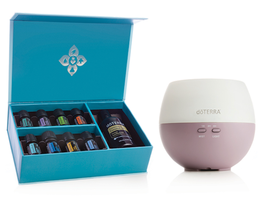 AROMATOUCH DIFFUSED ENROLLMENT KIT   PRICE: $150 Wholesale ($200 Retail  PRODUCTS:  Petal Diffuser , (5 mL bottles)  doTERRA Balance ,  Lavender ,  Melaleuca ,  doTERRA On Guard ,  AromaTouch ,  Deep Blue ,  Wild Orange ,  Peppermint ,  Fractionated Coconut Oil  (4 oz)  Enroll with this kit to experience a variety of essential oils that can also be used for the AromaTouch Technique.