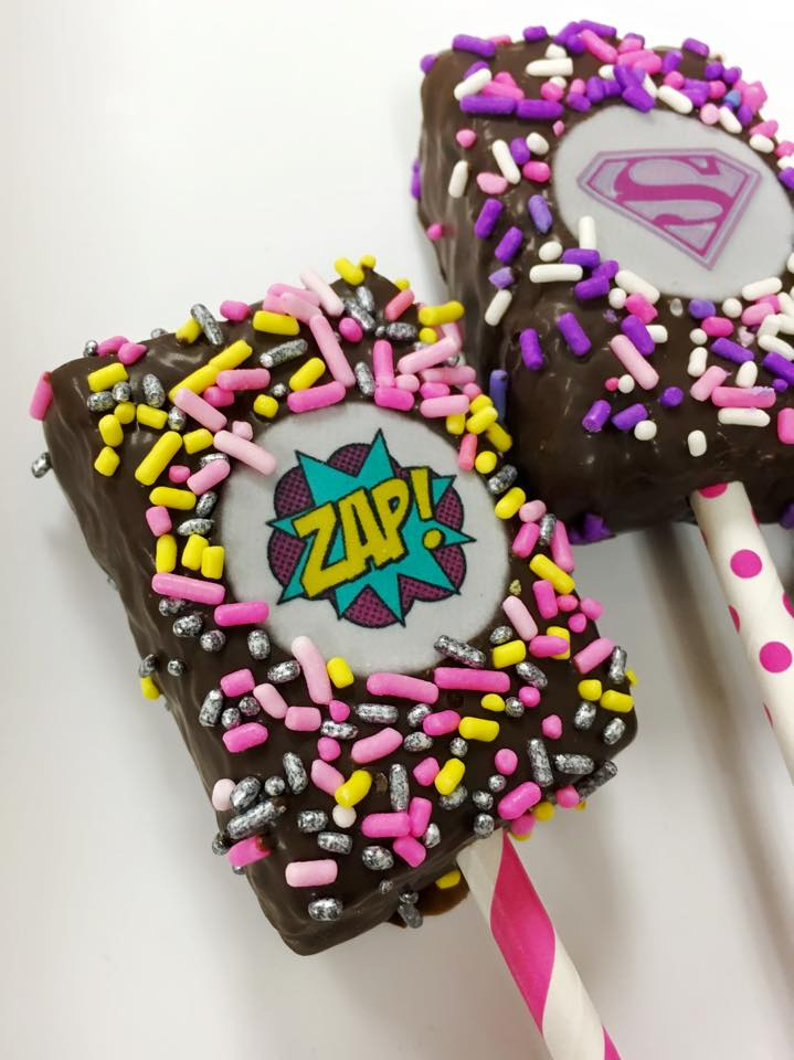 """Superhero"" Krispie Pops"