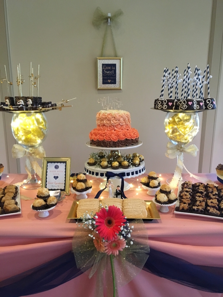 A Custom Designed Wedding Dessert Spread that was Entirely Made and Staffed by Sweet Signatures.