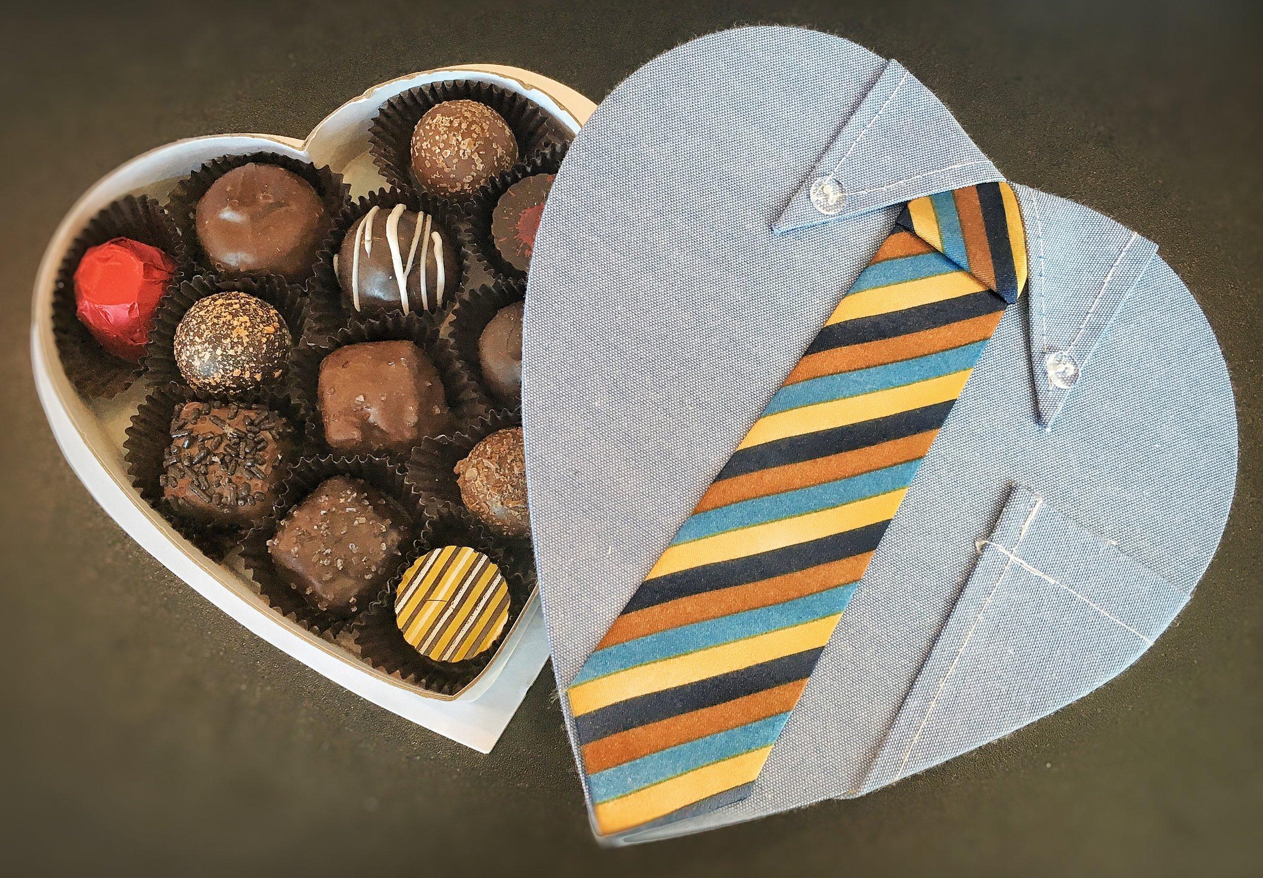 Dad's Heart & Tie Chocolate Box