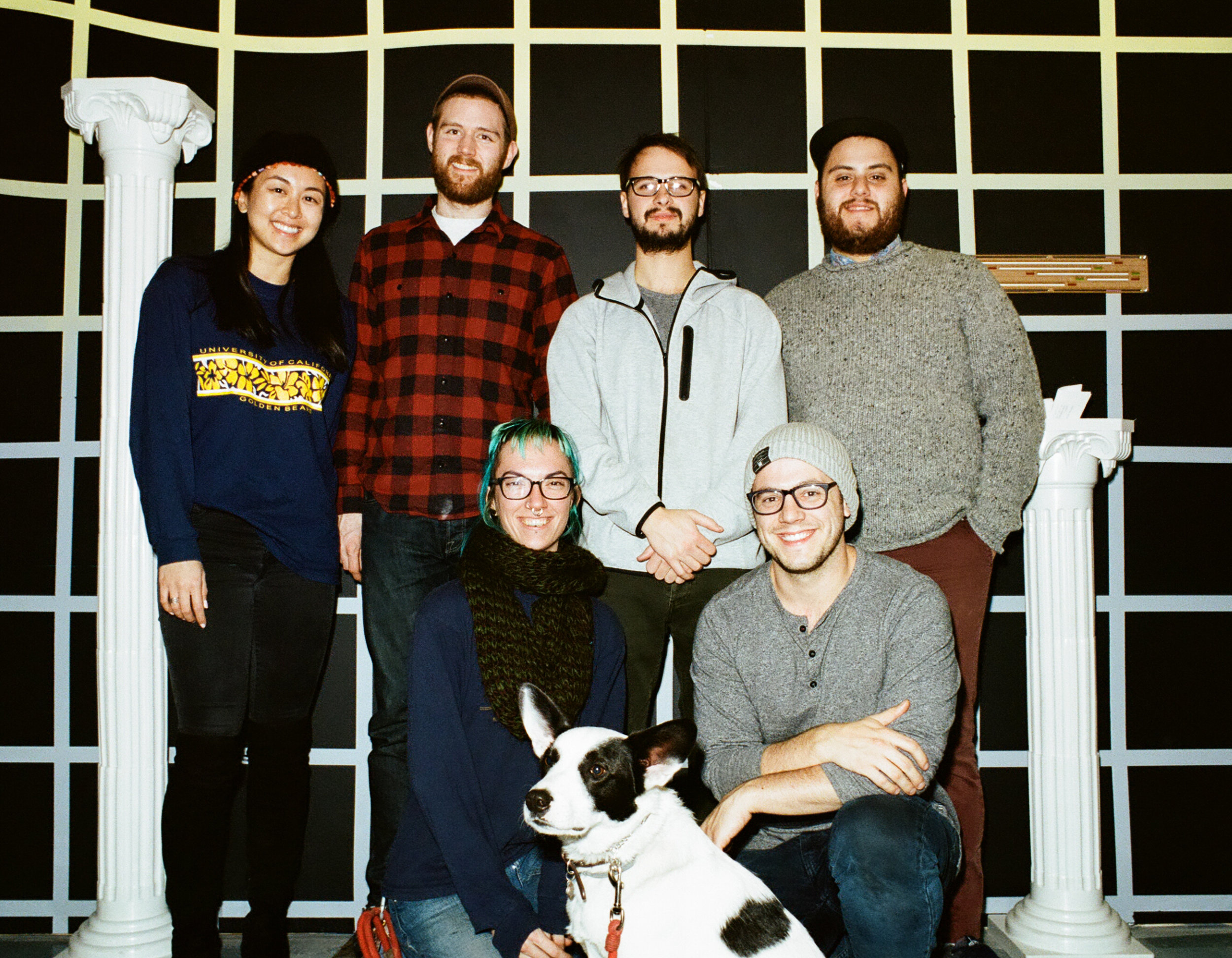 From left to right: Kayla (venue launch), David (Product), Madison (Product Implementation), Giuseppe (Marketing, Cofounder), Ethan (CEO, Cofounder),, Domenic (Operations)