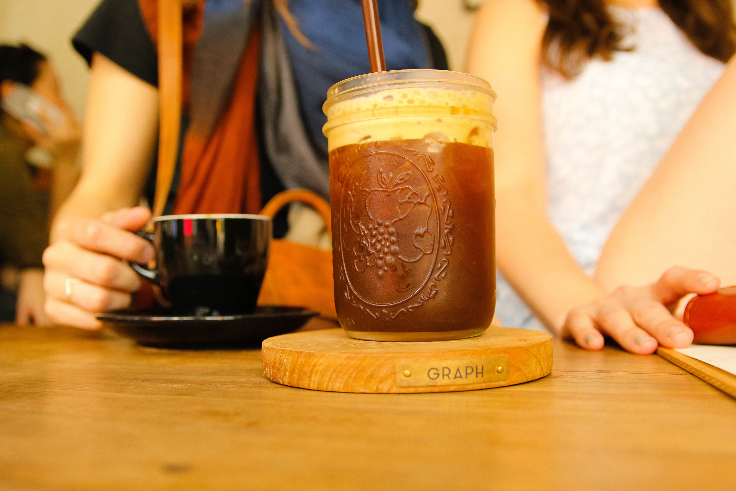 Chiang Mai Thailand Graph Cafe coffee iced latte