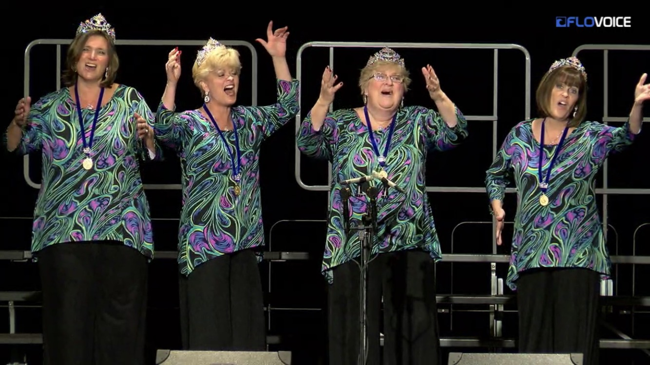LOVE-FILLED CONGRATULATIONS to our very own CHARISMA, Harmony Incorporated 2017 First Place Quartet (Harmony Queens). With combined scores in singing, performance, and musicality, Charisma ranked above the other 23 international qualifiers at our organizations convention in Halifax, Nova Scotia. Watch for news of our next show, when you can hear them perform.