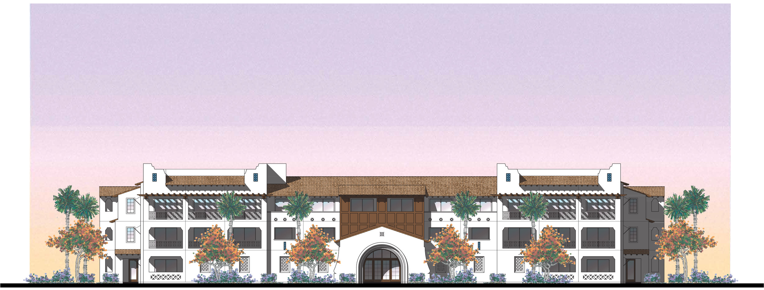 Boutique Hotel - Rear Elevation