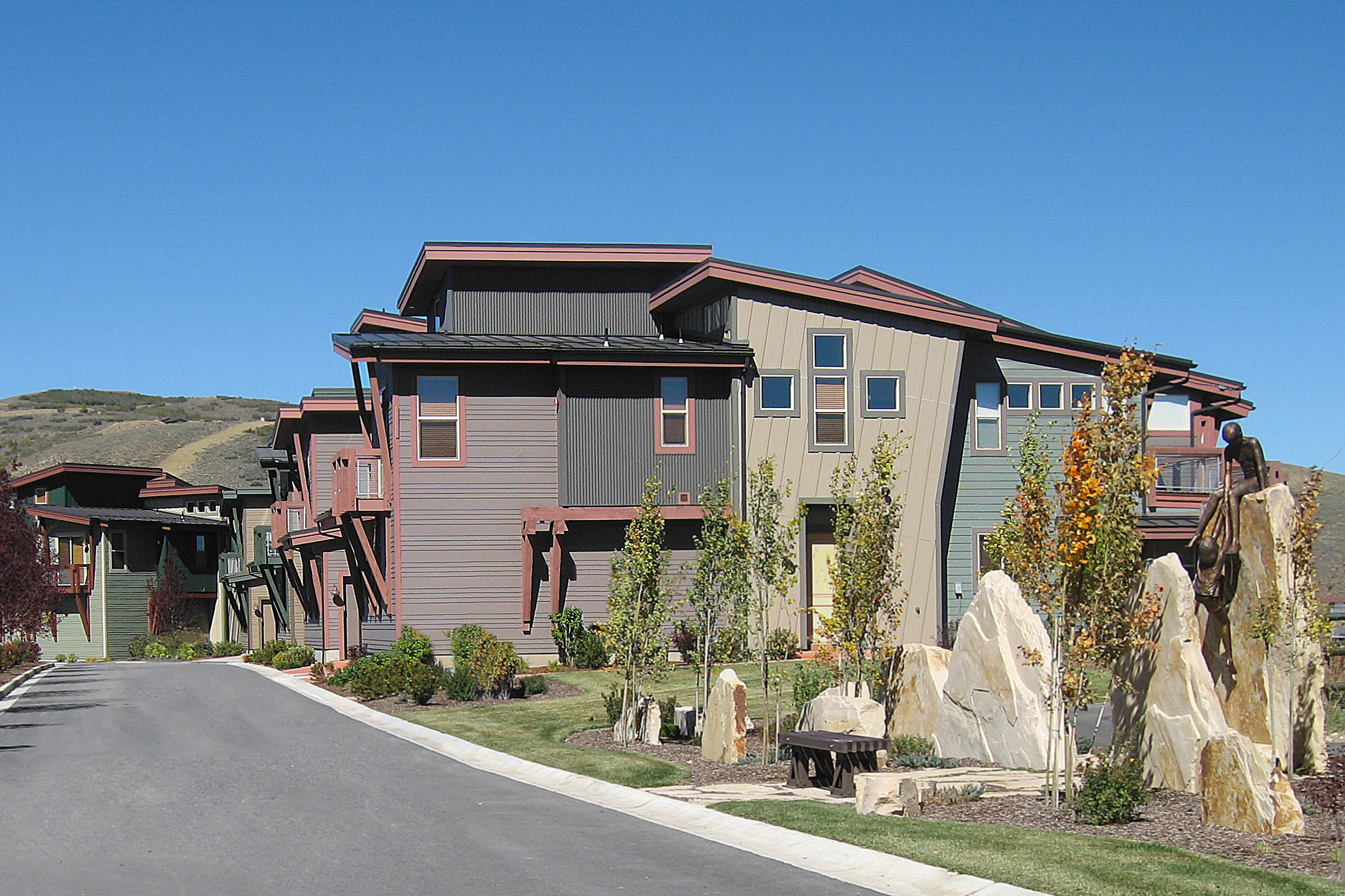 Newpark Townhomes architectural photography