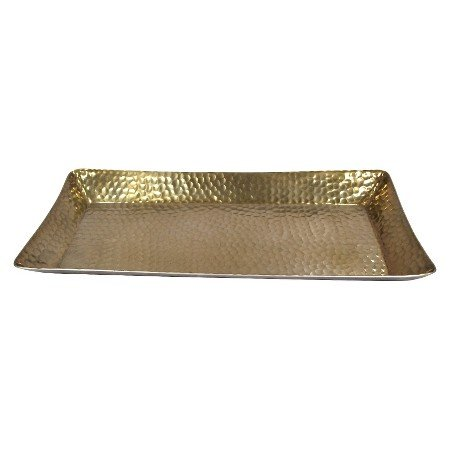 Gold hammered tray