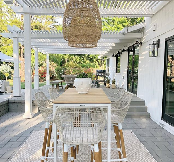 Backyard Deck Plan and Moodboard