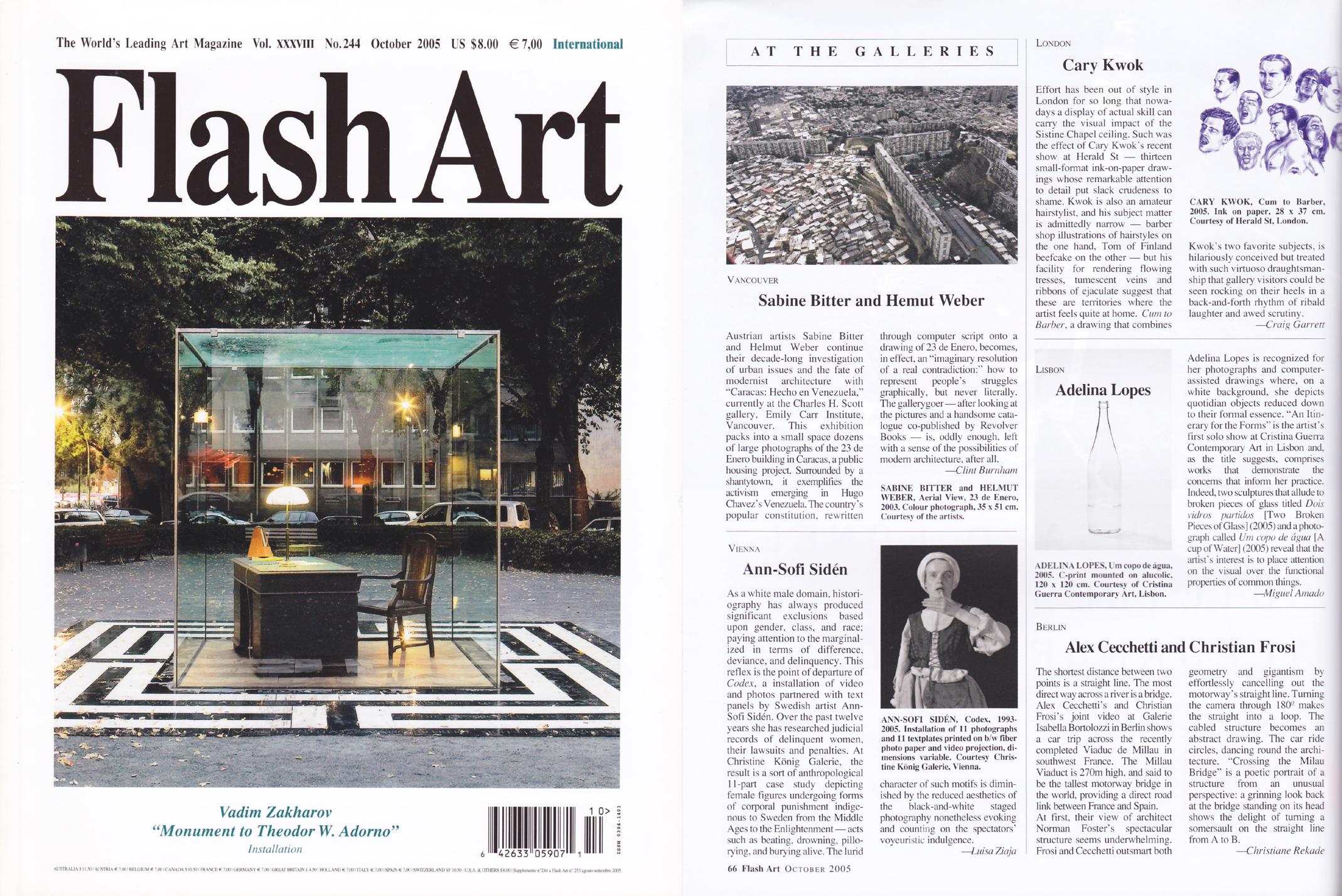 Cary Kwok - Flash Art Magazine (Vol  XXXVIII No 244) - Oct 2005 (e).jpg