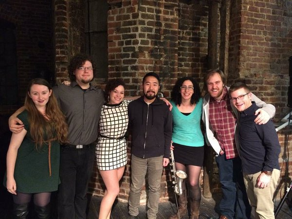 With composers from the  Guerrilla Composer Guild  commissioning project, Center for New Music, San Francisco.