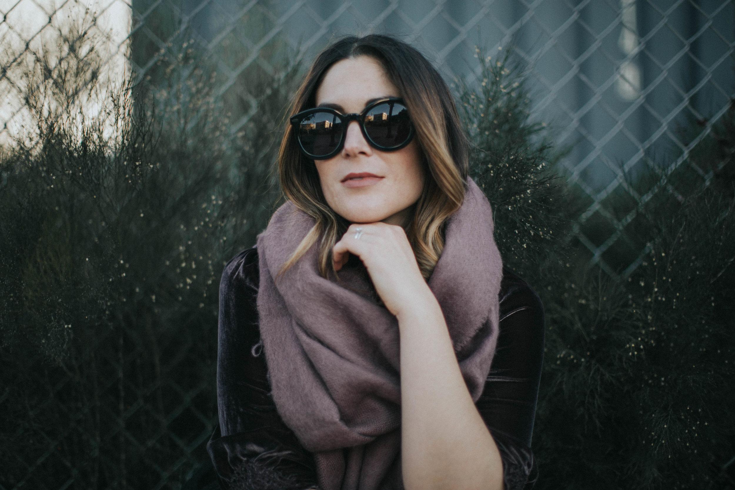 sunglasses  Karen Walker  | scarf  ASOS  | dress  Ulla Johnson