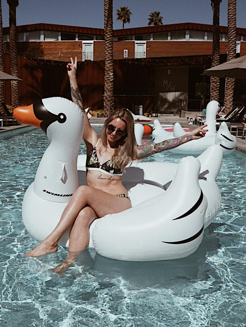 julia o test creative palm springs guide arrive hotel pool